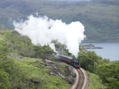 A phot of the Jacobite steam train.