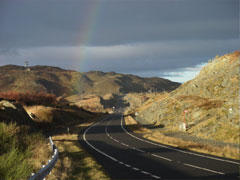 A photo of the A830 main road.